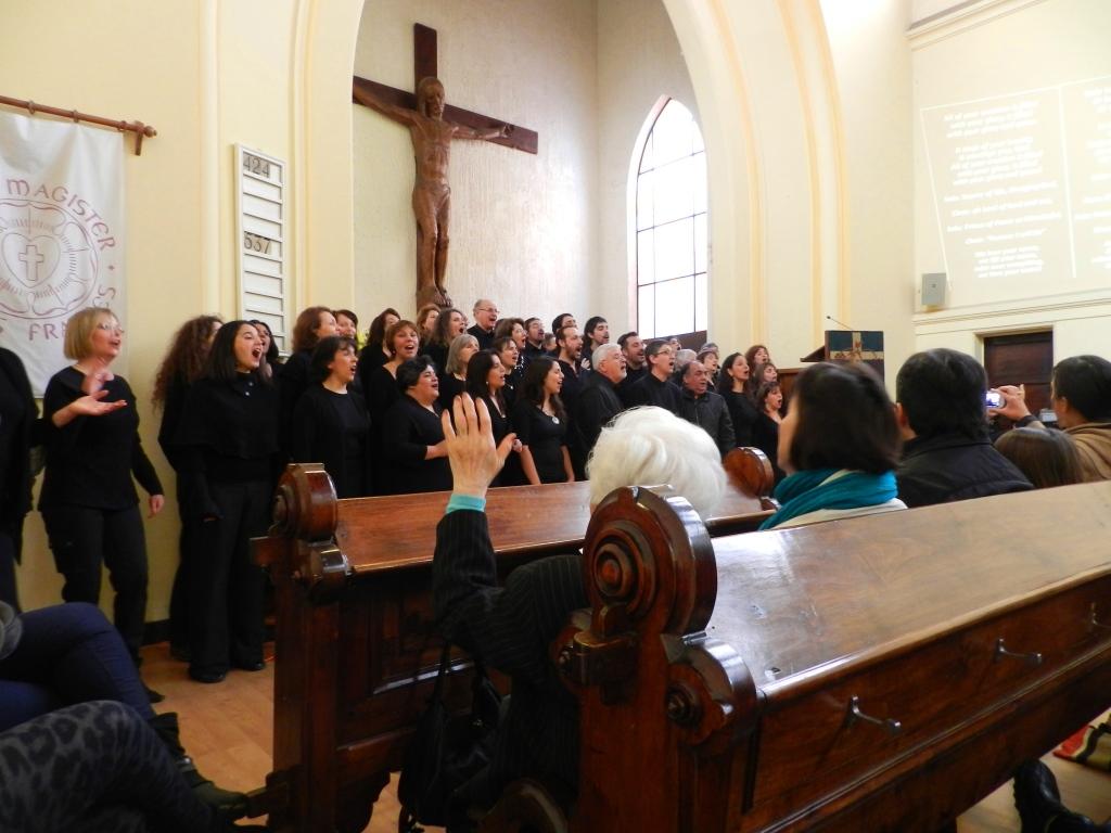 Coro Santiago Gospel en la Iglesia Luterana